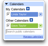 Google Calendar: Shared Calenders Enabled