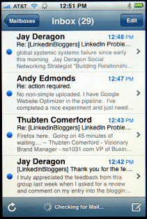 Apple iPhone Email: Gmail, Yahoo Mail, .Mac, AOL and more...