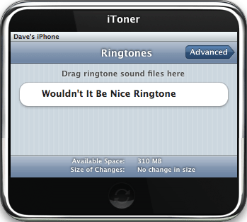 iToner iPhone Ringtone Manager: Main Window