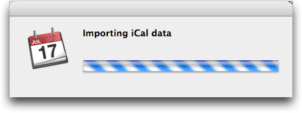 Apple Mac OS X iCal: Importing Data