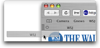Safari in Mac OS X: Dragging tab to Create Shortcut