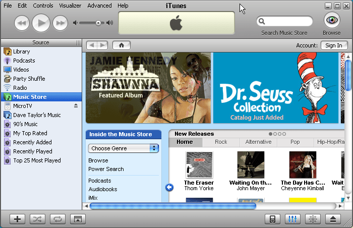 Windows XP / Apple iPod / Apple iTunes Music Store