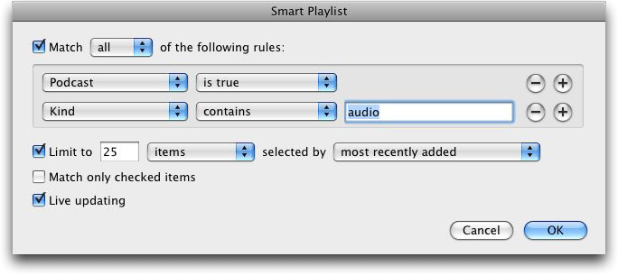 Apple iTunes Smart Playlist #2