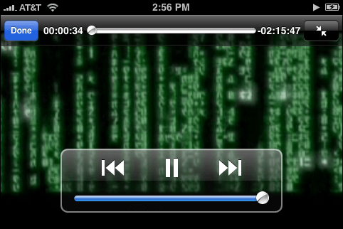 The Matrix: As viewed on an Apple iPhone 3G cellphone cellular mobile telephone