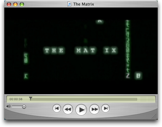 The Matrix: Export As window from QuickTime Player (Mac OS X)