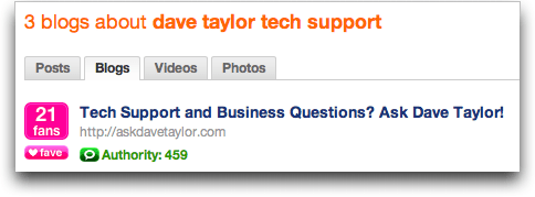 Technorati search for Dave Taylor Tech Support: Results