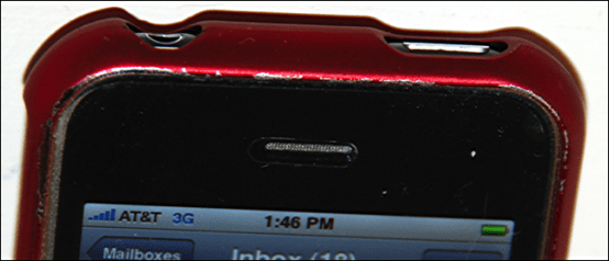 ifrogz iphone case scratched edge