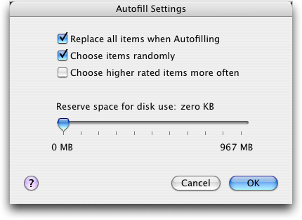 apple itunes ipod shuffle autofill settings