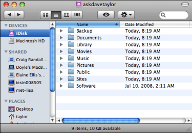 mac finder idisk