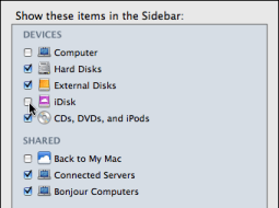 mac finder preferences idisk