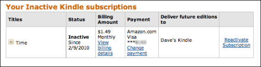 inactive amazon kindle subscriptions