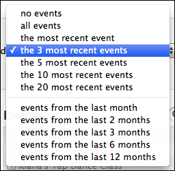 itunes iphoto photos albums events selected