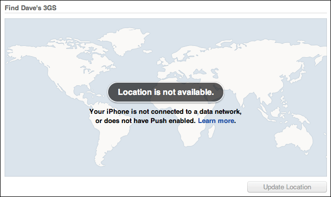 mobileme location not available