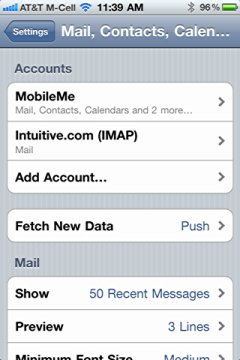 iphone change default email signature 2