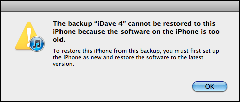 iphone restore fail too old 2