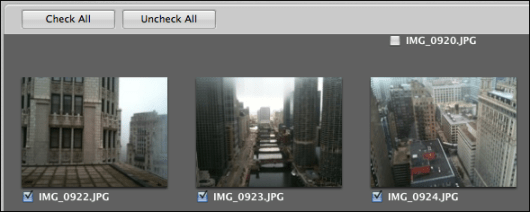 mac aperture selecting photos to import