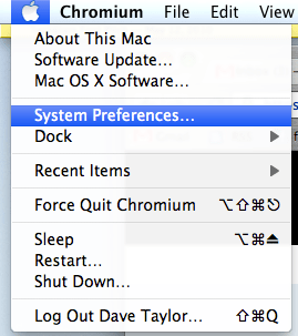 mac apple system preferences menu