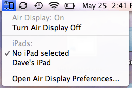 mac ipad air display mini menu ipad list