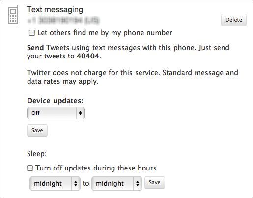 twitter enable dm txt messages 2