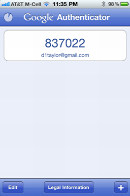 iphone google authenticator 5