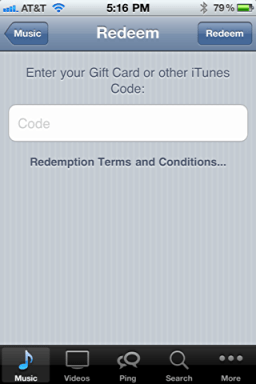 iphone itunes redeem starbucks song card 3