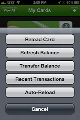 iphone starbucks transfer card balance 3