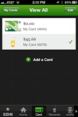 iphone starbucks transfer card balance 6