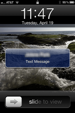 iphone text message privacy 4