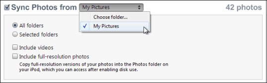 win7 itunes add photos 3