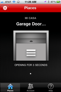 assurelink garage door iphone remote