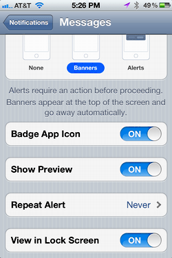 iphone message alert notification 4