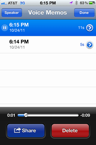 iphone record voice memo 4
