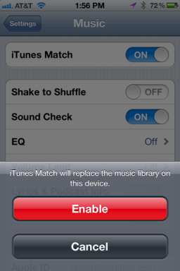 itunes match iphone 4