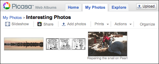 picasa google photos upload embed 7
