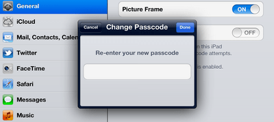 ipad complex password 4