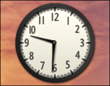 win7 add clock gadget widget 3