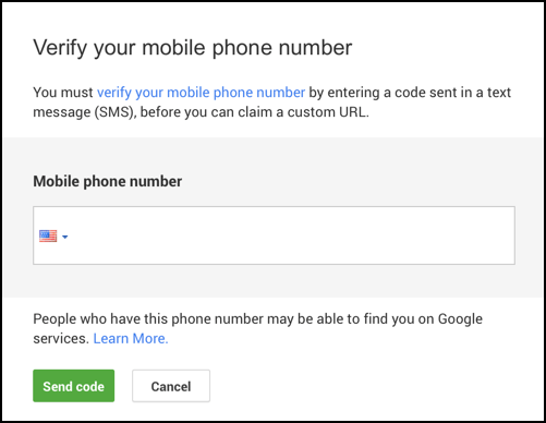 enter cell mobile phone number