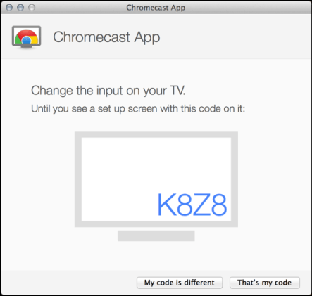 chromecast identifies itself for confirmation