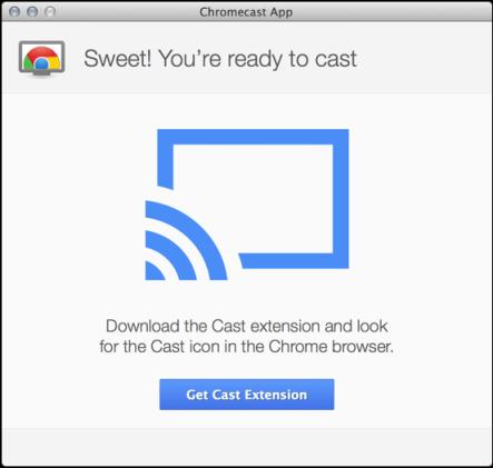 chromecast device set up to work with mac os x macintosh system