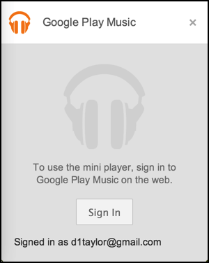google play music tab closed, miniplayer dies