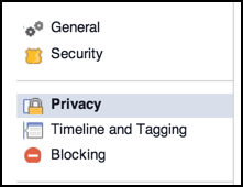 choose 'privacy' under your personal facebook settings