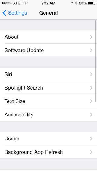 text size - larger, smaller - in ios 7