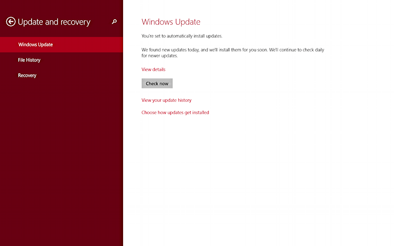 win8 tablet system update