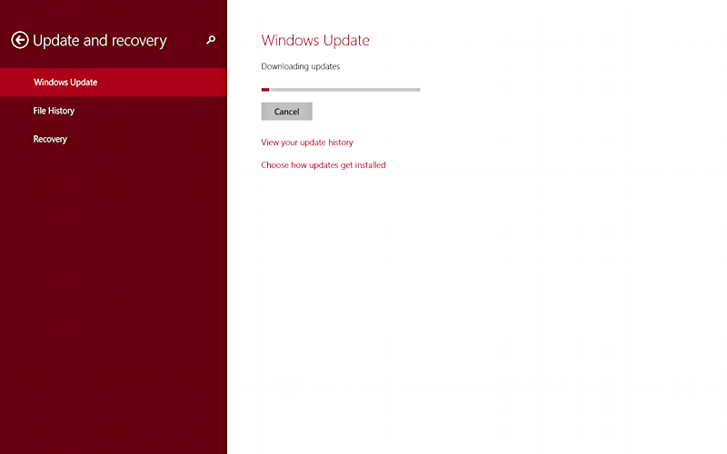 win8 update ready to go