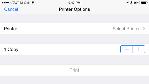 ios print options