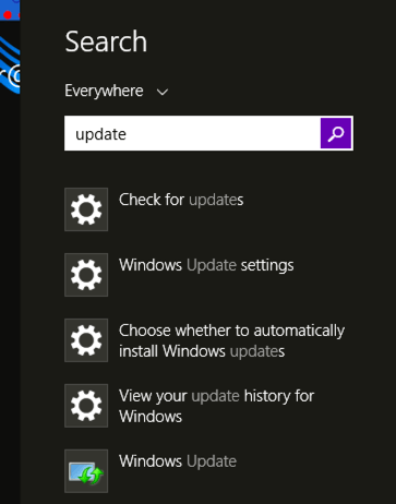 update win8 windows 8 - search