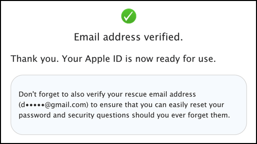 apple id appleid created and ready to use