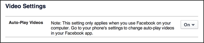 facebook video settings auto-play videos: off