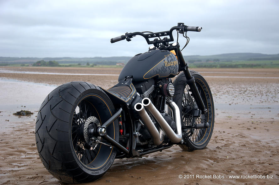 Harley-Davidson – Rocker C – Customized By Rocket Bobs of 4 by Jermaine