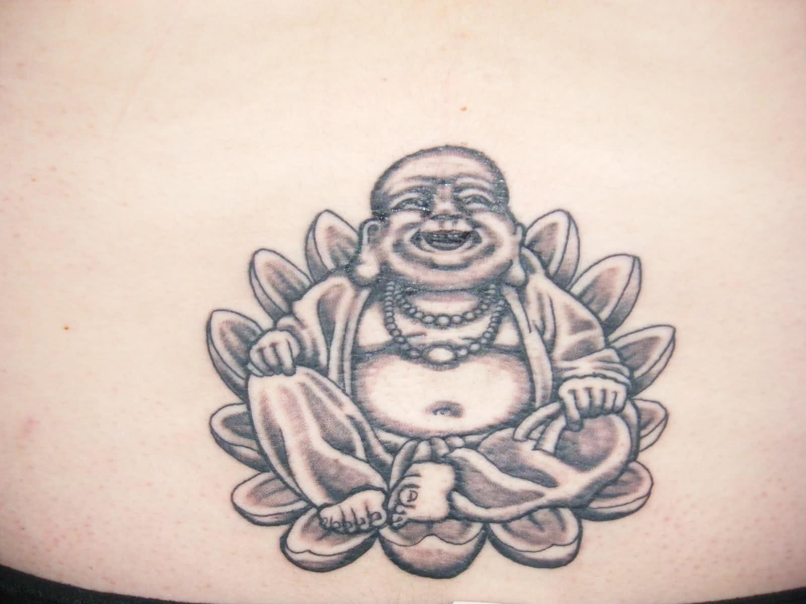 Laughing Buddha Sitting In Lotus Flower Tattoo 2018 Tattoos Ideas